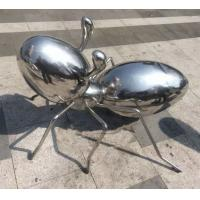 Quality Polished Metal Animal Sculptures Ant Sculpture Stainless Steel For Plaza Decoration wholesale