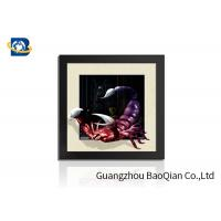 Quality PVC / MDP Frame 3D 5D Pictures Different Animal Patterns Wall Decoration wholesale