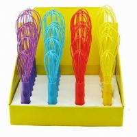 Quality FDA silicone egg whisk for kitchen ,colorful silicone silicone egg beaters wholesale