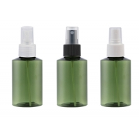China 50ml/100ml/150ml/200ml dark green oblique shoulder cosmetic bottle spray bottle portable fine mist bottle on sale