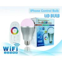 China Hot selling 2.4G wireless touch Screen Remote Control 6W RGB LED Bulb on sale