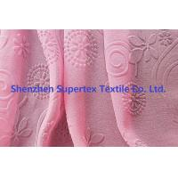 Quality 75D Polyester Pearl GGT Pink Chiffon Fabric With Embossed Flowers wholesale