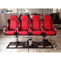 Quality Red / Black 5D Cinema System Customized Dynamic Theater System For Center Park wholesale