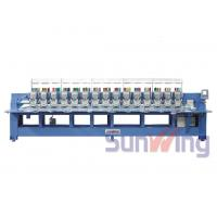 Quality 9 Needle 15 Head Flat Embroidery Machine For Shoes / T - Shirts wholesale