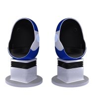 Quality 10 Square Meters Single Seat 9D VR Egg Chair with DPVR E3 2K Glasses wholesale