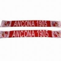 China Football Scarves, Customized Logos are Accepted on sale