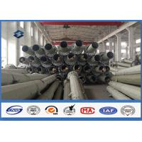 Philippines 69KV 50FT 55FT 60FT Power Transmission Pole with Hot Dip Galvanized