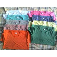 Quality 65,500 piece cheap price women's Solid color Tees shirt 1 style 11 colors full size stock wholesale