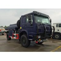 Quality HOWO 4X4 LHD Gasoline Transporting Oil Tank Truck / Petroleum Tanker Trucks wholesale