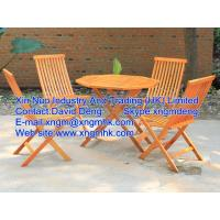 China Wooden outdoor furniture, wooden leisure furniture, wooden folding tables and chairs on sale
