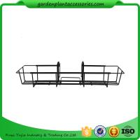 Quality 24 Inch Black Hanging Garden Baskets With Adjustable Hanging Brackets Product Dime 7.7 x 24 x 5 inches 1.9 pounds wholesale