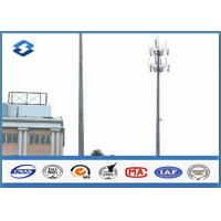 Quality Microwave Telecommunication electric service pole , Hot Roll Steel Q420 wireless communication towers wholesale
