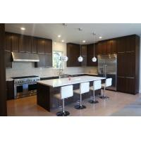 Buy cheap Italian Design Cocoa Kitchen Cabinets Thermofoil Finish For Apartment Project product