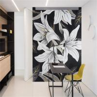 Quality Wall Hanging Glass Mosaic Murals , Bathroom Shower Tile Murals Square Shape wholesale