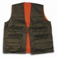 Quality Safety Vest with Zipper and Button, Made of Polyester and Cotton wholesale
