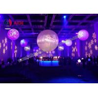 Quality Colorful Inflatable Balloon Led Light Inside , Prism Lighting Inflatable Light Tower For Stage wholesale