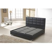 Quality 3 Star Hotel Style Bed PU Leather Wooden Frame High Density Foam wholesale