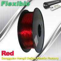 Quality Professional Eco Friendly Flexible( TPU )  Red 3D Printer Filament 1.75mm wholesale