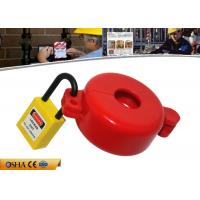 Cheap ABS Material Red Gas Cylinder Tank Lock Out  Use for Valve Stem Hole 32MM for sale