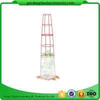 "Quality Large Tall Tomato Plant Stakes , Red Heavy Duty Tomato Cages size 14"" in diameter x 66"" H overall Fabric is imported wholesale"