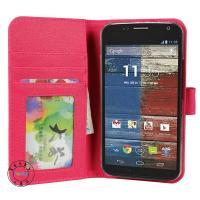 China Smartphone wallet cases for motox+1 with card slots and Inner Pocket on sale