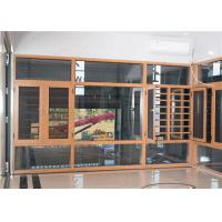 Quality Yellow Brown Aluminium Frame Glass Window And Doors Air Proof Flush Design wholesale