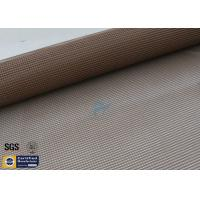 Quality PTFE Coated Fiberglass Fabric 4X4MM Brown Open Mesh Printing Conveyor Belt 260℃ wholesale