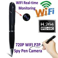 Quality 720P HD WIFI P2P Pen Spy Hidden Camera Covert Video Streaming Recorder Home Security Nanny Camera Remote Baby Monitor wholesale