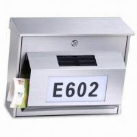 Quality Letter Box, Made of SPCC or Stainless Steel, Customized Designs are Welcome, OEM Orders are Accepted wholesale