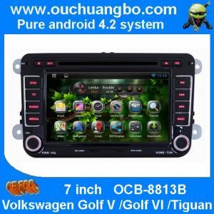 Quality Ouchuangbo Car Stereo DVD Player for Volkswagen Golf V /Golf VI /Tiguan Android 4.2 GPS Navi 3G Wifi Radio OCB-8813B wholesale