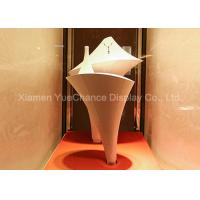 Quality Handmade White Standing Display Rack Fiberglass Necklace Display Rack wholesale