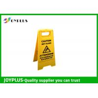 Quality Yellow Plastic Caution Sign Board / Portable Sign Stands Eco Friendly 62x30cm wholesale