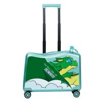 China NHL021-7 high quality PC 20 inch kids scooter trolley case 3D cartoon travlling universal wheel  suitcase for sale