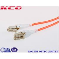 Cheap LC Uniboot Multimode OM2 50/125 Fiber Optic Patch Cables LSZH PVC 10m 15m 20m for sale