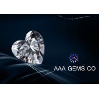 China 0.93ct Heart Cut Diamond Moissanite VVS1 For  Shopping Malls 6.5mm on sale