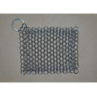 Quality Rectangular Chainmail Cast Iron Pan Scrubber Stainless Steel Wire Scrubber wholesale