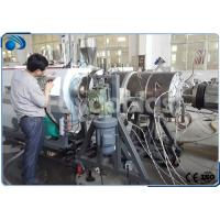 China 16~800mm HDPE Pipe Manufacturing Machines Single Screw Extruder With PLC Control on sale