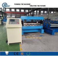 Quality Galvanized Steel Trapezoidal Roofing Roll Forming Machine With Hydraulic Decoiler wholesale