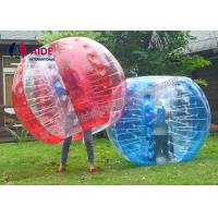 Quality 1.7m Red Blue Color Inflatable Bubble football Giant Inflatable Soccer Ball 6 Ft Bubble Suit wholesale