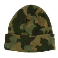 Quality Custom Made Camouflage Knit Beanie Hats For Guys 56-60cm Size Breathable wholesale