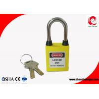 Quality 38mm Steel Shackle Safety Lockout Yellow Dustproof Padlock with Nylon PA Lock Body wholesale