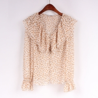 China Light Chiffon Recycled Polyester Ladies Long Sleeve Tops on sale