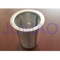 Quality Low Carbon Steel Wire Mesh Filters Powder Coating Canister With Conical Hole wholesale