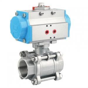 China Pneumatic Three Piece Ball valve -PTFE,TMF,RPTFE seal material avaliable on sale