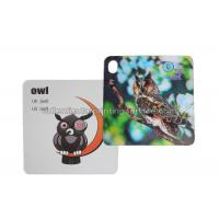 Quality 3D Flash Card Lenticular 3d Pictures Animal Design For Kids Gift wholesale