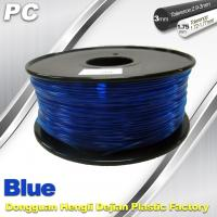 Cheap Blue 3mm Polycarbonate Filament Strength With Toughness1kg / roll PC Flament for sale
