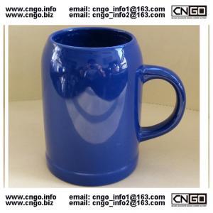 Quality wholesale glass beer mug ceramic beer cup custom LOGO 500ML beer mug wholesale