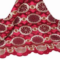 China F50085 51-52 wine / white embroidery swiss voile lace in switzerland on sale