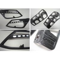 China 3D Carbon Fiber Head Lamp and Tail Lamp Bezels For ISUZU D-MAX 2012 2014 on sale