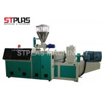 High Capacity Conical Twin Screw Plastic Extruder Machine For PVC Granulating